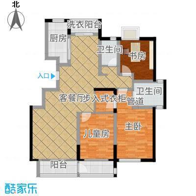香堤水岸137.00㎡户型3室2厅2卫1厨-副本