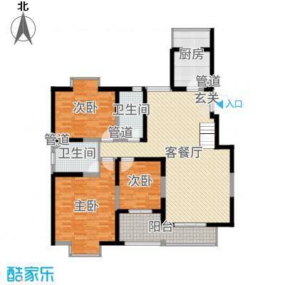 西安印象224.00㎡复式一层户型5室5厅3卫1厨
