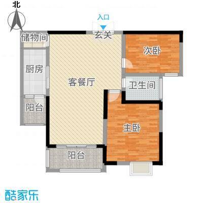 东城阳光府邸117.70㎡3#C2户型2室2厅1卫