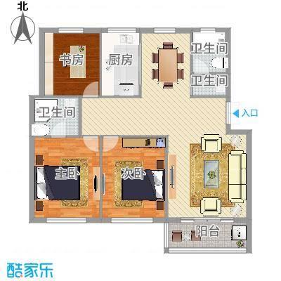 高塘花园3室2厅1卫1厨83.00㎡.jpg