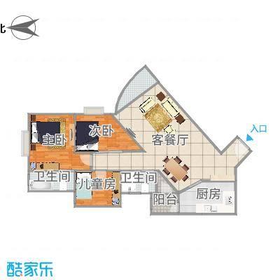 悦龙阁06户型图