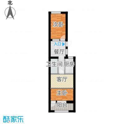 永定路1号院两居室-方案1