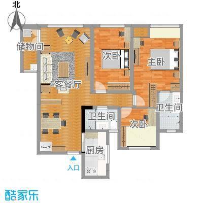 现代简约(89㎡)-常州吾悦生活广场刘女士雅居