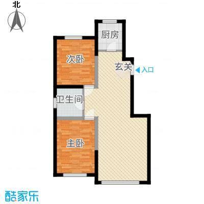 景康名苑1.70㎡100_副本户型2室2厅1卫1厨