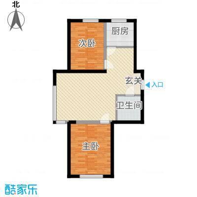 景康名苑8.63㎡89_副本户型2室2厅1卫1厨