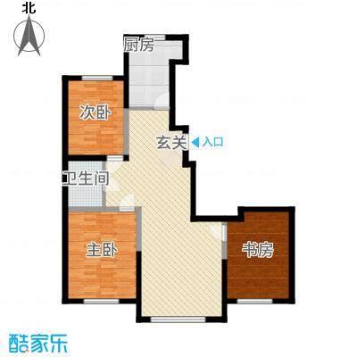 景康名苑12.00㎡120m_副本户型3室2厅1卫1厨