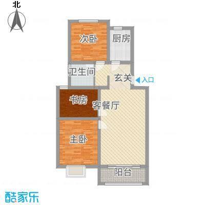 鲲鹏・岭秀城8.00㎡图片2户型3室2厅1卫1厨