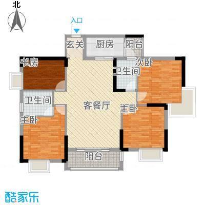 创美・世纪城12.15㎡片户型4室2厅2卫1厨