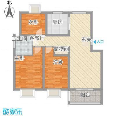 来泉山庄114.60㎡D4户型3室2厅1卫1厨