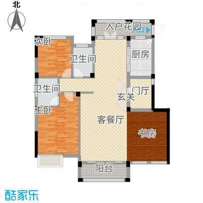 华仪香榭华庭13.20㎡户型3室2厅2卫