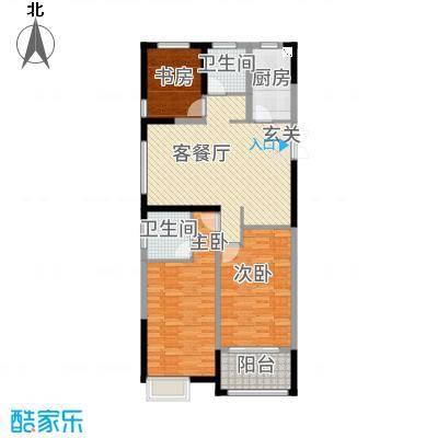 华仪香榭华庭118.20㎡G户型3室2厅2卫