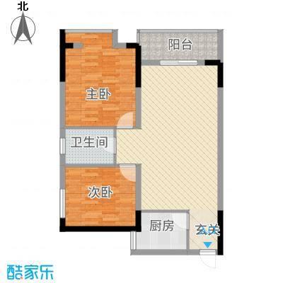 香泉公馆8.00㎡1户型2室2厅1卫