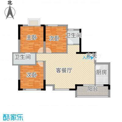 香泉公馆128.00㎡3户型3室2厅2卫