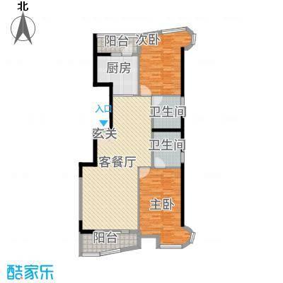 盈馨佳苑12133.20㎡R1户型2室2厅2卫1厨