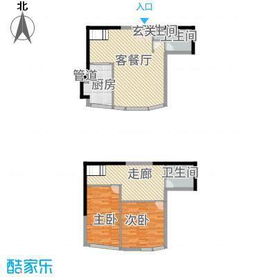 盈馨佳苑22136.20㎡G2户型2室3厅2卫1厨