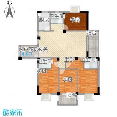东城国际二期7151.20㎡A7#01单元4室户型4室2厅3卫1厨