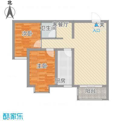 尚品国际82.00㎡B户型2室2厅1卫