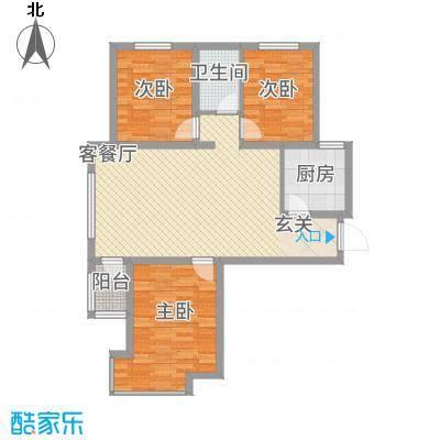 尚品国际18.00㎡A户型3室2厅1卫