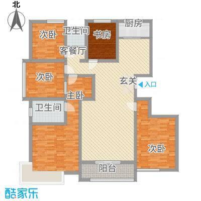 东方・亚特兰18.00㎡户型5室2厅2卫1厨