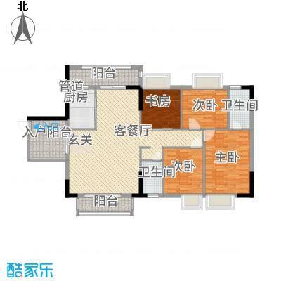 穗光・温泉花园141.00㎡户型4室2厅2卫1厨