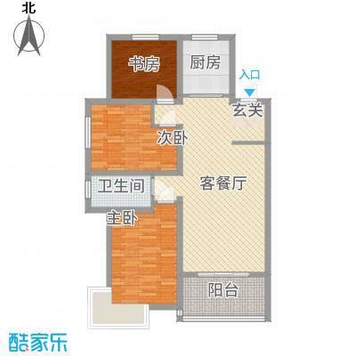 华城新视界115.00㎡户型