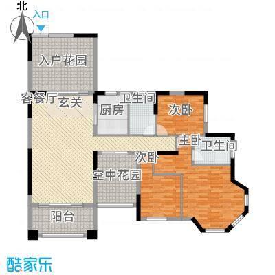 凯旋豪庭148.87㎡户型3室2厅2卫1厨