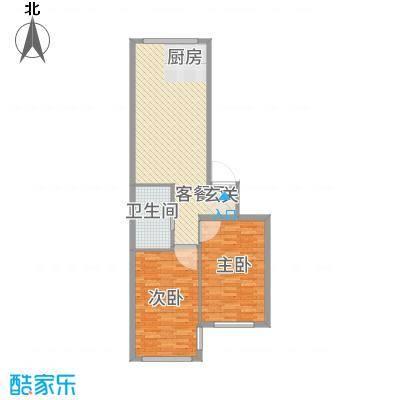 黄金水岸7.30㎡户型2室1厅1卫