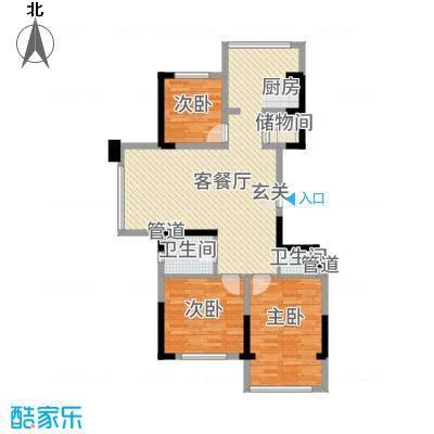 瑞景花园11.00㎡户型3室1厅2卫1厨