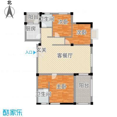 大地・潜龙山居137.00㎡K3户型3室2厅2卫