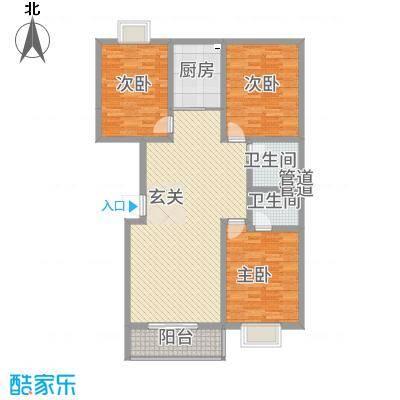 水墨世嘉137.76㎡F户型3室2厅2卫1厨