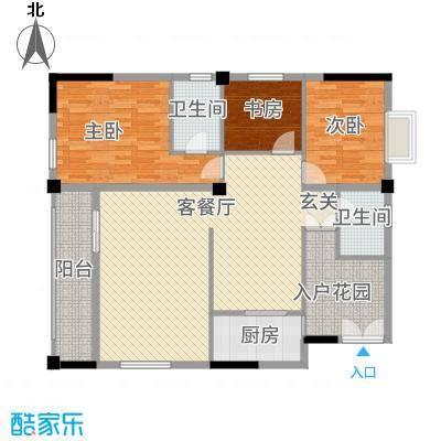 大地・潜龙山居12.00㎡K1户型3室2厅2卫