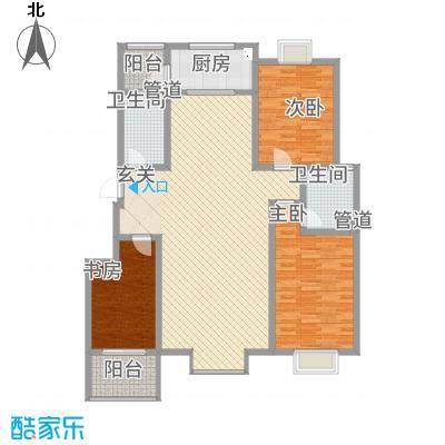 星河城2户型3室2厅2卫1厨
