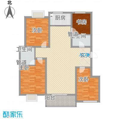 星河城5户型4室1厅1卫1厨