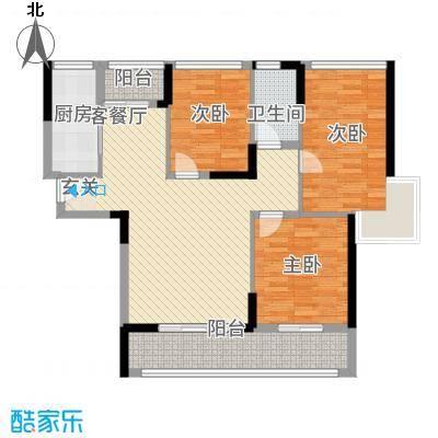 一水天城熙岸18.17㎡10#、12#极目B户型3室2厅1卫1厨