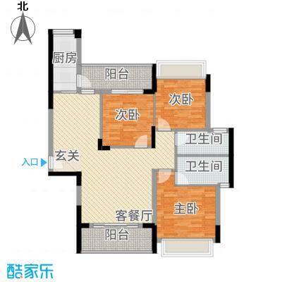 一水天城熙岸12.00㎡7#、8#揽胜B户型3室2厅2卫1厨