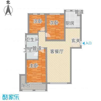 西线7号71.20㎡C1户型3室2厅2卫