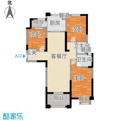 安阳碧桂园127.00㎡高层瞰景洋房户型3室2厅2卫