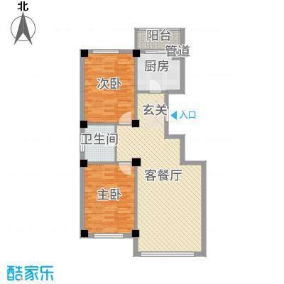 龙脉海景花园16.00㎡4号楼标准层户型2室2厅