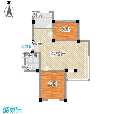 龙脉海景花园4号楼标准层户型2室2厅