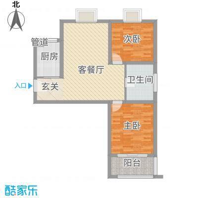 鼎天广场6.78㎡B3户型2室2厅1卫1厨