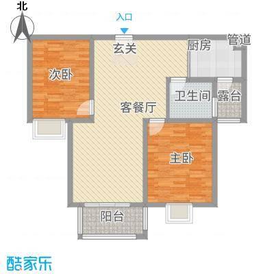 鼎天广场12.33㎡B2户型2室2厅1卫1厨
