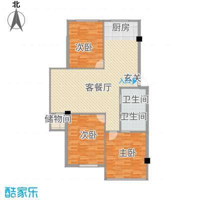 东都屹景113.00㎡户型3室2厅2卫
