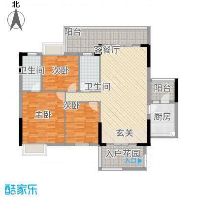 尚东雅轩18.00㎡2幢A101/08单元户型3室2厅2卫1厨