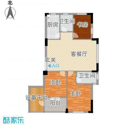 宝诚・悦府11.47㎡B户型3室2厅2卫1厨