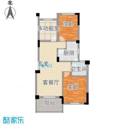 宝诚・悦府5.72㎡A2户型2室2厅1卫1厨