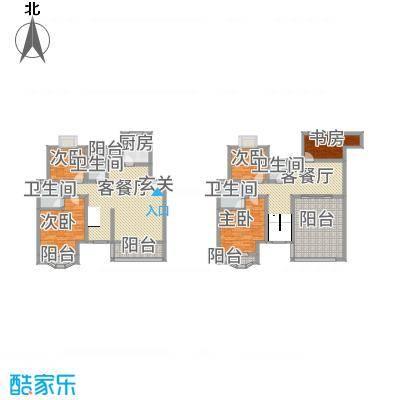 天工颐园C2复式户型5室3厅4卫1厨