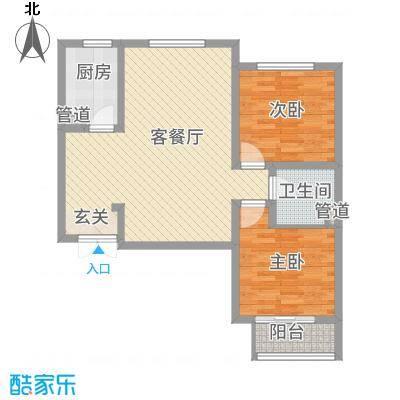 锦江华庭5.80㎡2#楼户型2室2厅1卫