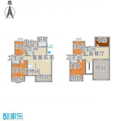 天工颐园C1复式户型5室3厅4卫1厨