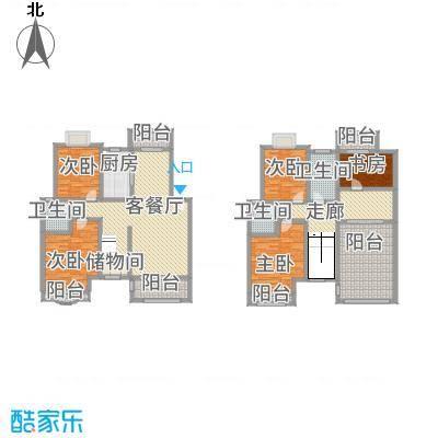 天工颐园B复式户型5室3厅3卫1厨