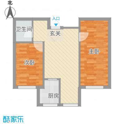 鹏博・长江花园63.00㎡63户型2室2厅1卫1厨